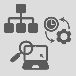 Cluster of optimization icons