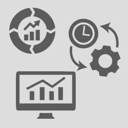 Cluster of process improvement icons