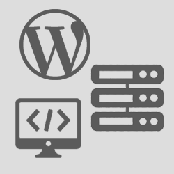 Cluster of web development icons